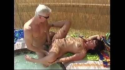 cum swallow  gangbang  mom  outdoor