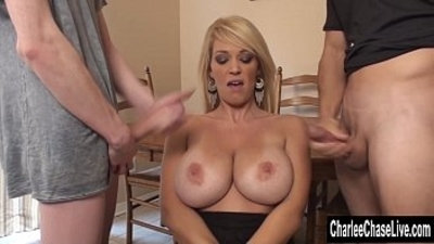 3some  big boobs  big cock  blonde